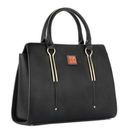 Fekete Nobo női táska osztás nélküli nagy belső térrel, tartozék vállpánttal. - ChiX Női Cipő- és Táska Webáruház