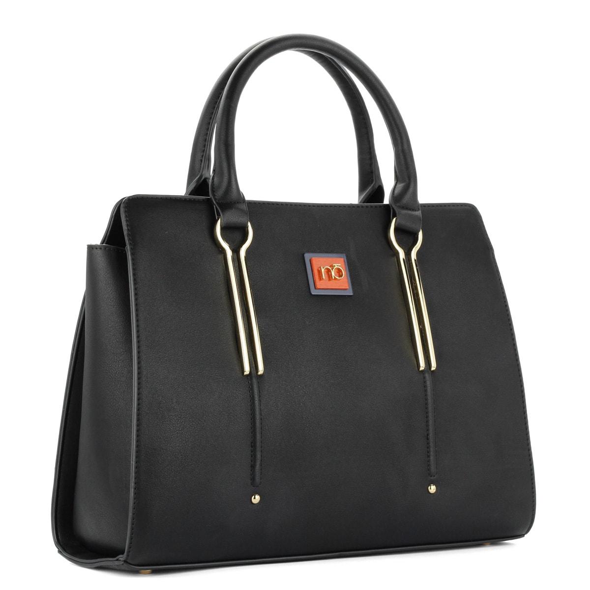 Fekete Nobo női táska osztás nélküli nagy belső térrel 408fdf6c1a