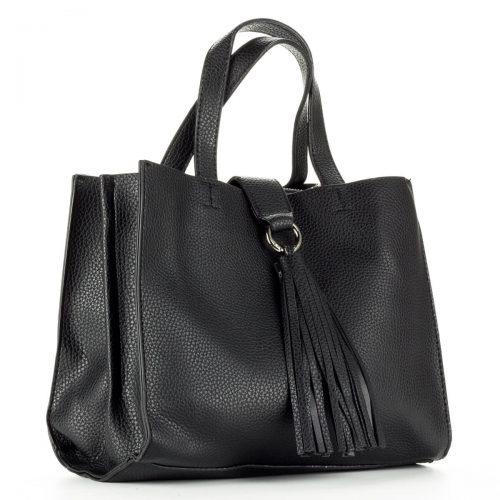 Diana & Co női divattáska fekete színben. Belseje egy középen található cipzáros rekesszel került osztásra. - ChiX Női Cipő- és Táska Webáruház