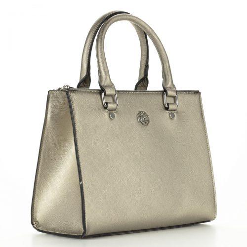 Marina Galanti arany színű női táska tartozék hosszú vállpánttal. A táska két cipzáros rekesszel rendelkezik - ChiX Női Cipő- és Táska Webáruház