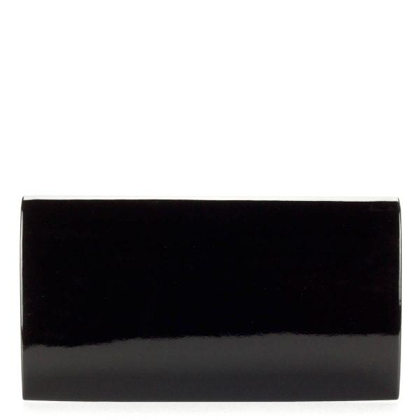 Prestige fekete lakk női borítéktáska, teljesen sima felületű, hosszú vállpánttal. - ChiX Női Cipő- és Táska webáruház