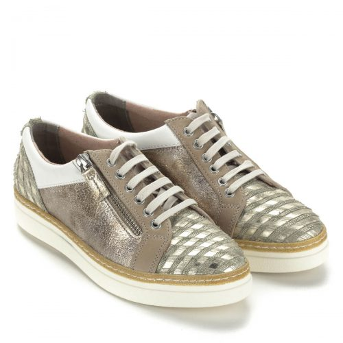 Arany színű Tamaris sneaker. Puha memóriahabos Touch It talpbéléssel készült pillekönnyű cipő.