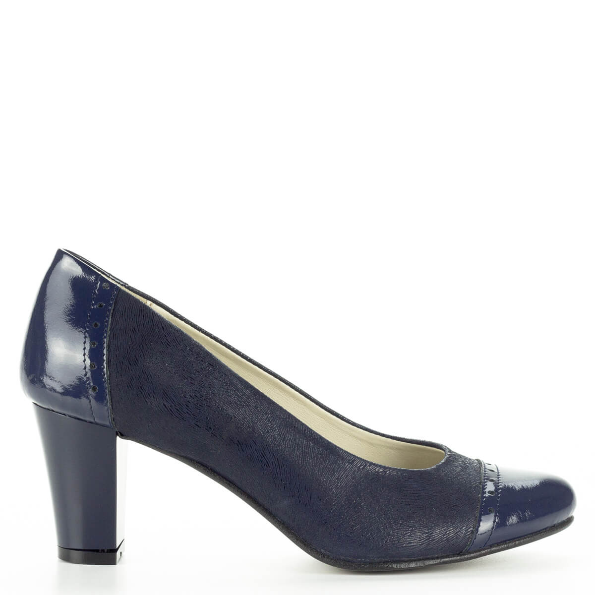 Verdi kék női bőr cipő. Magassarkú női cipő kényelmes 47fb05110d