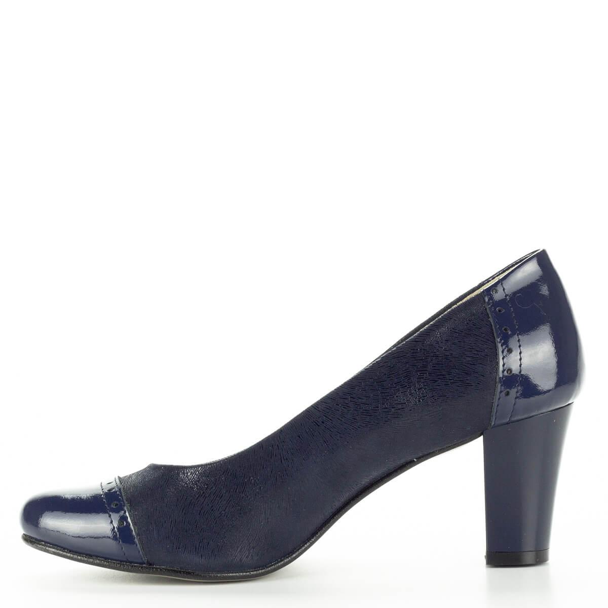 614b0324a8 Verdi kék női bőr cipő. Magassarkú női cipő kényelmes, 6 cm magas sarokkal.