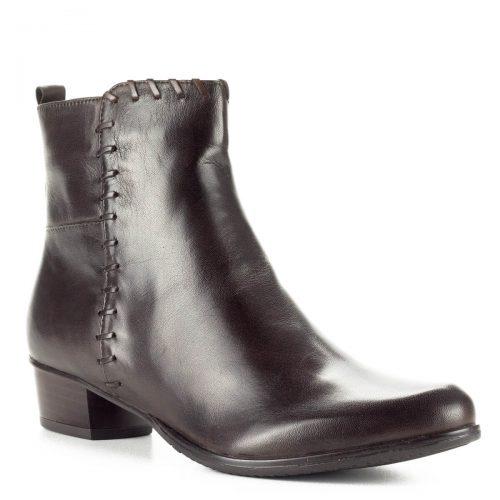 Canal Grande sötétbarna bőr bokacsizma nagyon puha bőrből, 3 cm magas sarokkal. A bokacsizma bélése puha plüss. Elegáns kis sarkú fazon.