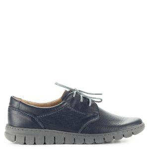 1a7f4df6e4 Pollonus kék komfort fűzős cipő puha talpbetéttel. A cipő kívül-belül  bőrből készült,