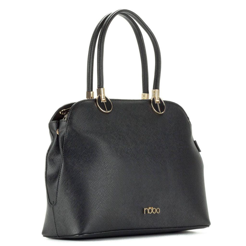 Elegáns fekete Nobo táska - Osztás nélküli belsővel 485c08bef4