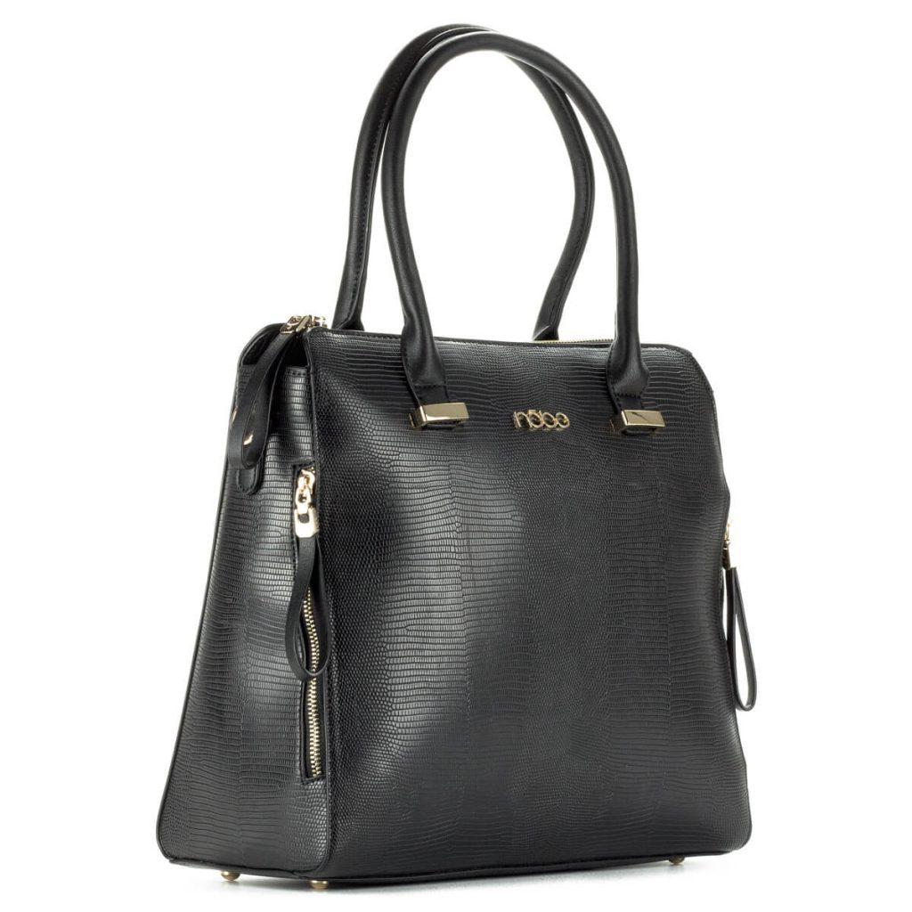 Fekete Nobo női táska nagy belső térrel 61adc25e5a