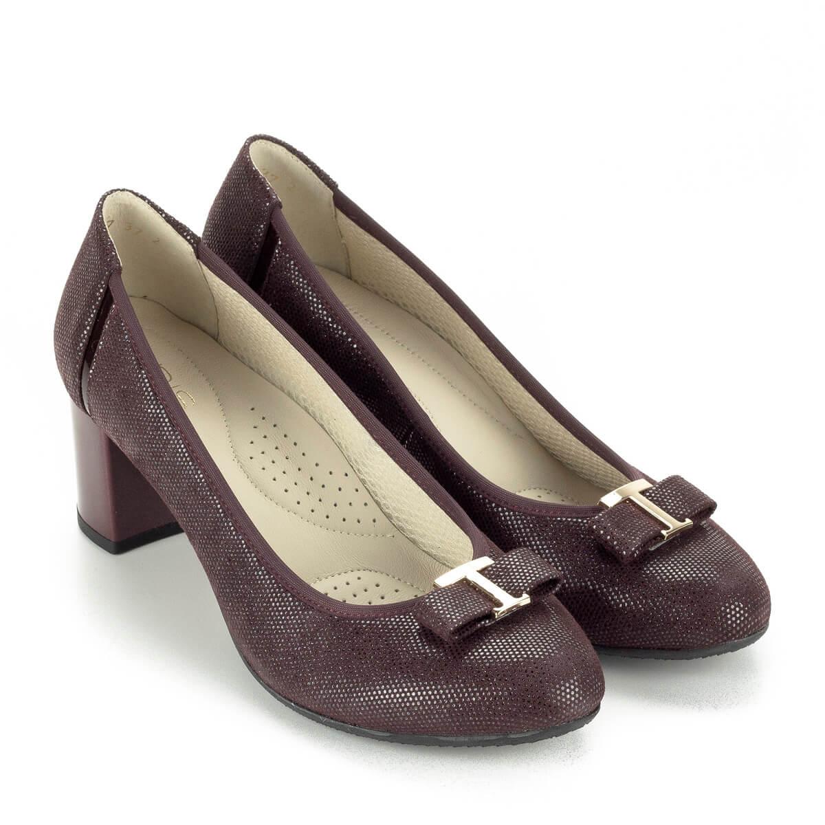 Anis bordó mintás magassarkú cipő mintás bőr felsőrésszel 2d2e2dad7c