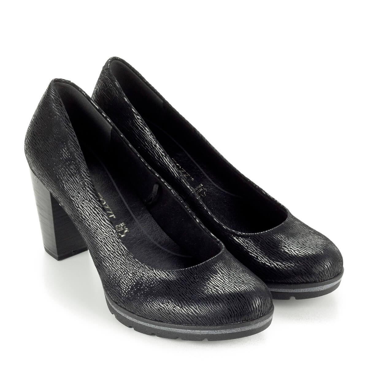 bb59cffa01 Magas sarkú Marco Tozzi cipő vastag recés gumi talppal, 7,5 cm magas  AntiShokk ...