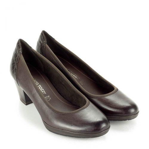 Marco Tozzi cipő AntiShokk sarokkal, platformos talppal. Nagyon kényelmes, 5,5 cm magasságú sarokkal készült, AntiShokkos.