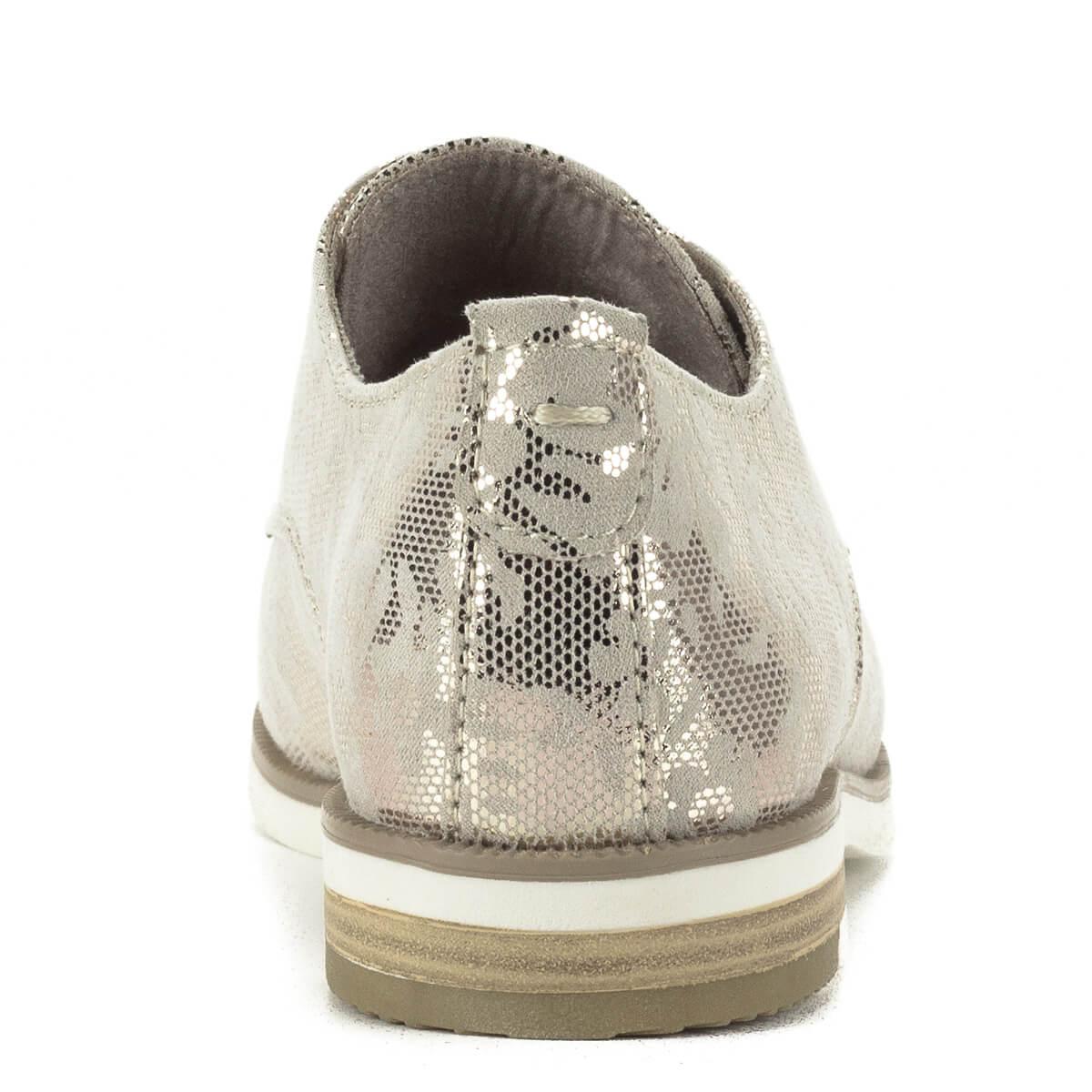... Fűzős Marco Tozzi női cipő csillogó felsőrésszel. A