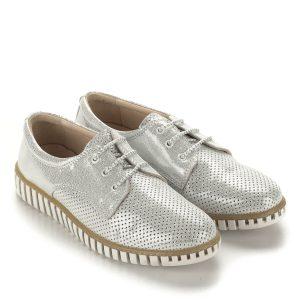 1956847bdc Anna Viotti ezüst fűzős cipő bőrből. A cipő bélése bőr, nagyon kényelmes,  puha