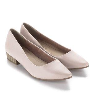 Marco Tozzi hegyes orrú lapos női cipő halvány rózsaszín színben. Sarka 3  cm 44b2d98350