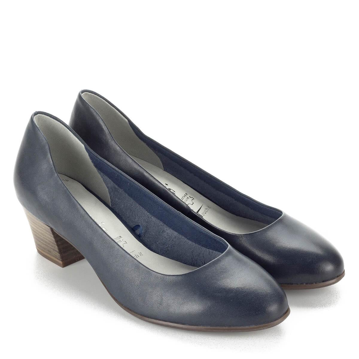 2881d16b0cf Tamaris kék női cipő kényelmes AntiShokk sarokkal. 4,5 cm magas,  memóriahabos Touch ...