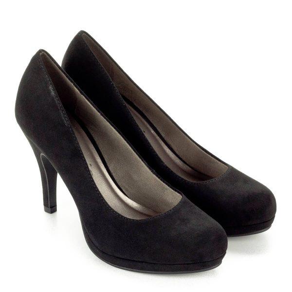 Platformos Tamaris magassarkú női cipő 9 cm-es sarokkal, 1 cm vastag talppal. Elegáns alkalmi cipő ingyenes kiszállítással.