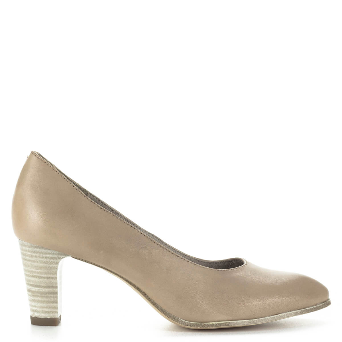 Tamaris bézs magassarkú cipő