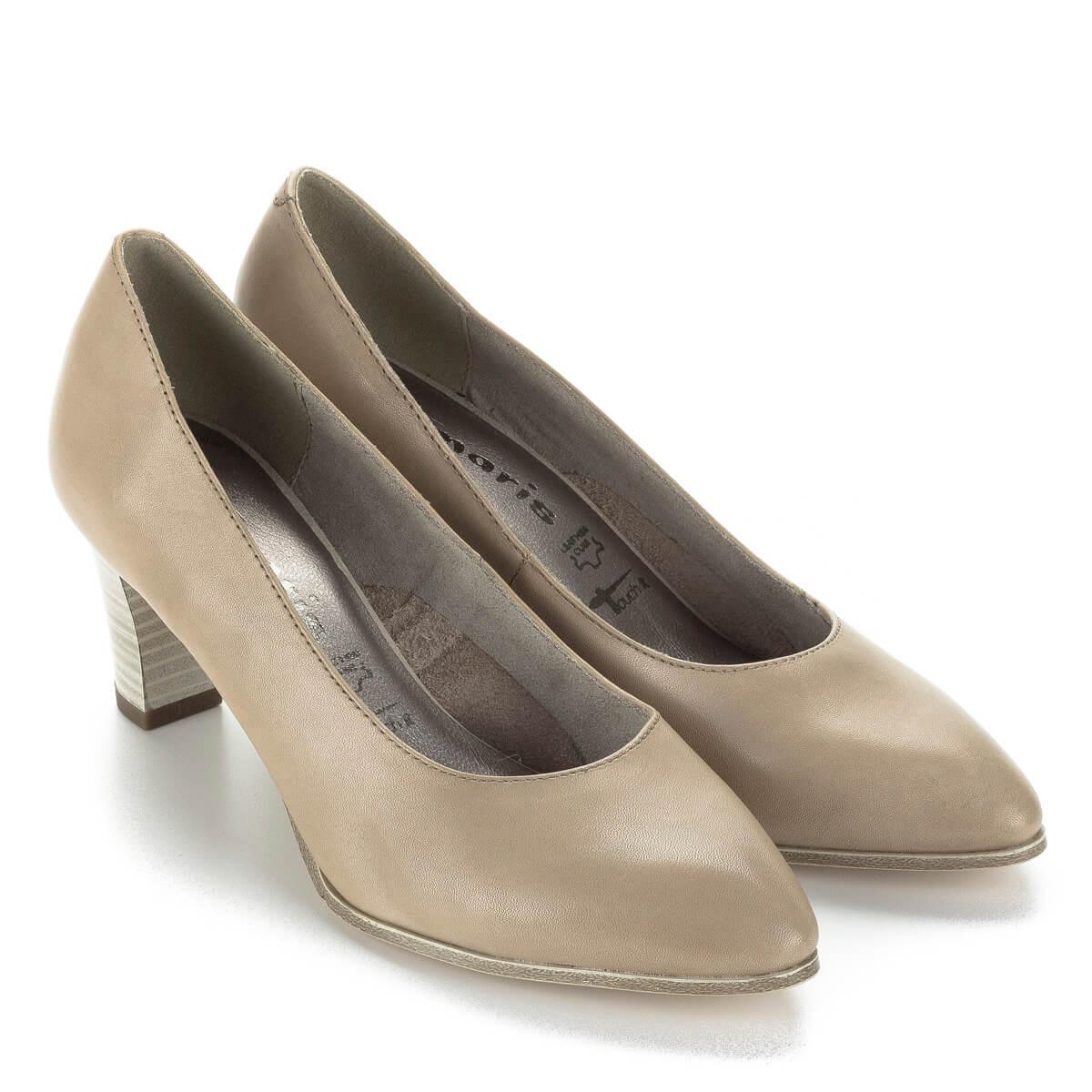 6b9660602d Tamaris magassarkú cipő 6,5 cm magas AntiShokk sarokkal, világos színben.