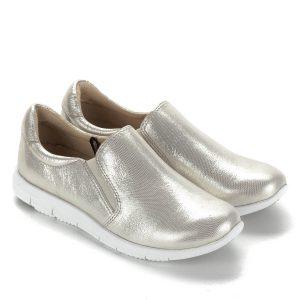 Csillogós Caprice sportos cipő fehér gumi talppal. Bélése és felsőrésze bőr, két oldalt gumi betét található. Kényelmes, stílusos cipő ingyenes szállítással