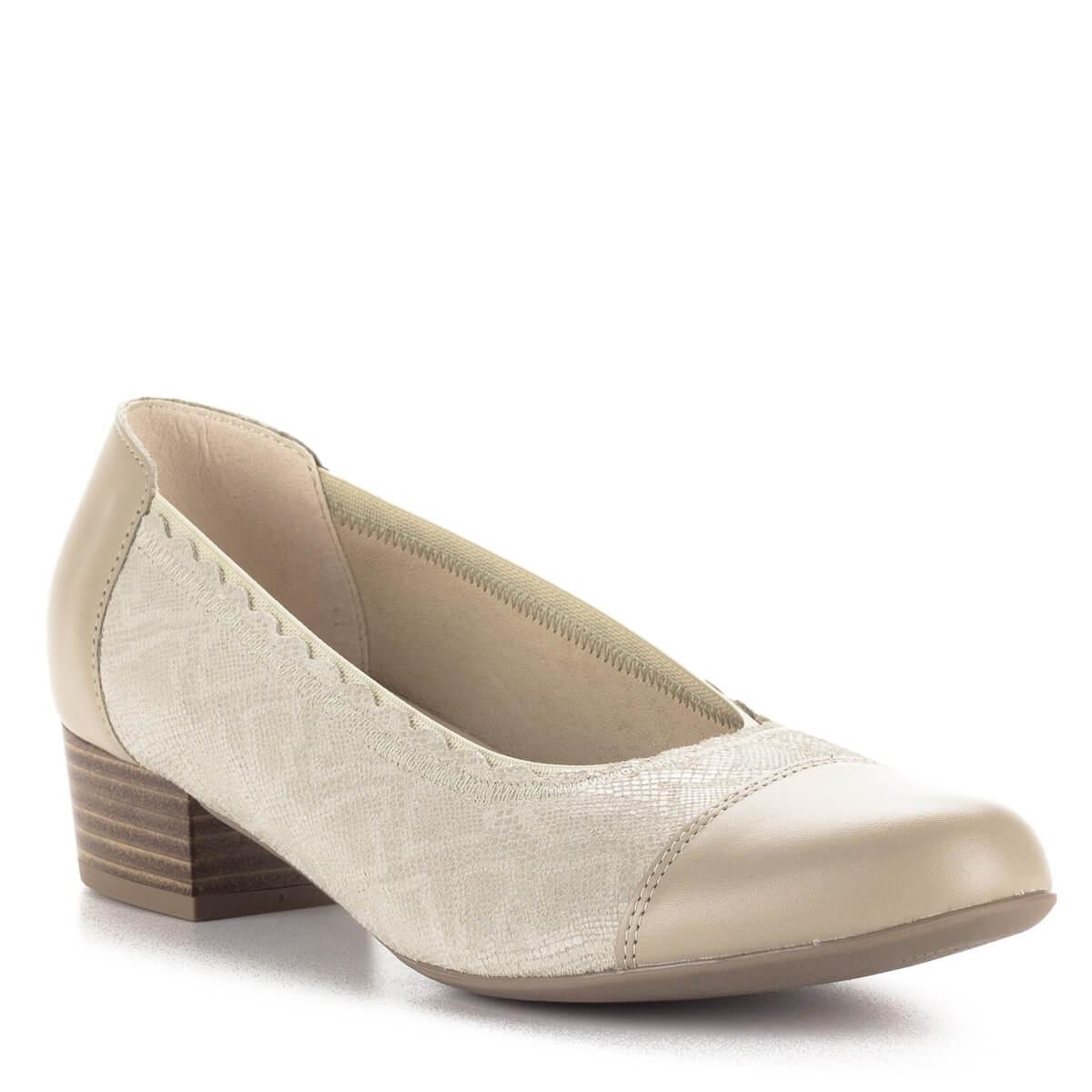 Kis sarkú bézs Alpina cipő, körben gumis szegéllyel, G