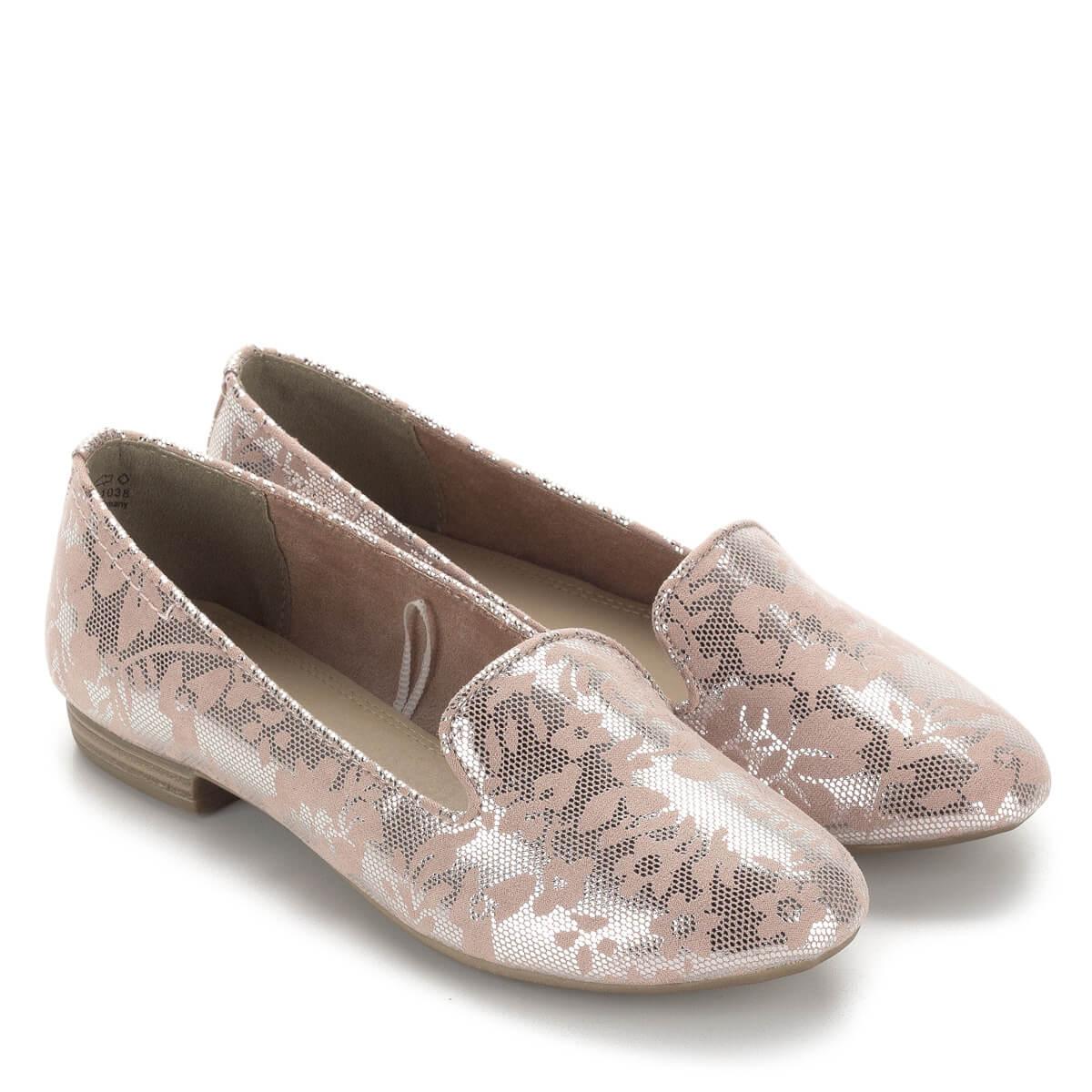Marco Tozzi női félcipő rózsaszín mintával 39143b949d