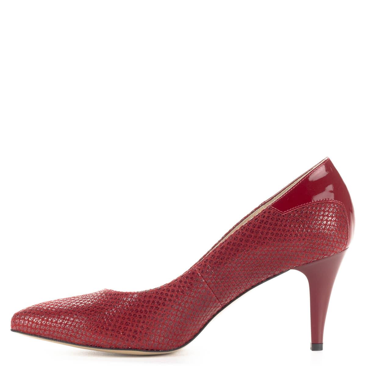 Kérgén lakk · Piros Anis magassarkú női bőr cipő 7 cf7068f68a