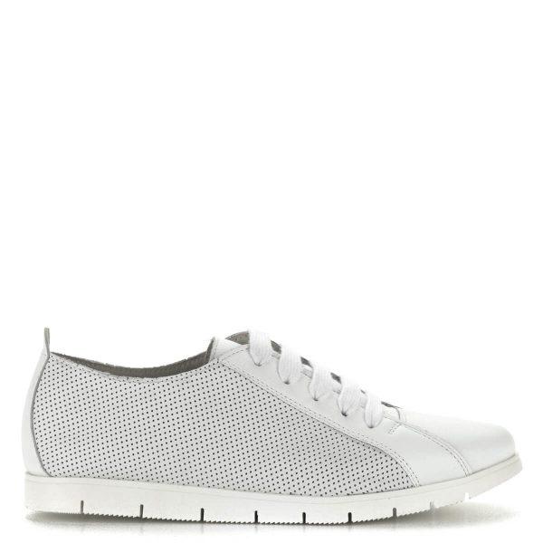 Fehér Cadenzza fűzős cipő bőr felsőrésszel és bőr béléssel. Talpa gumi, nagyon kényelmes sportos cipő.