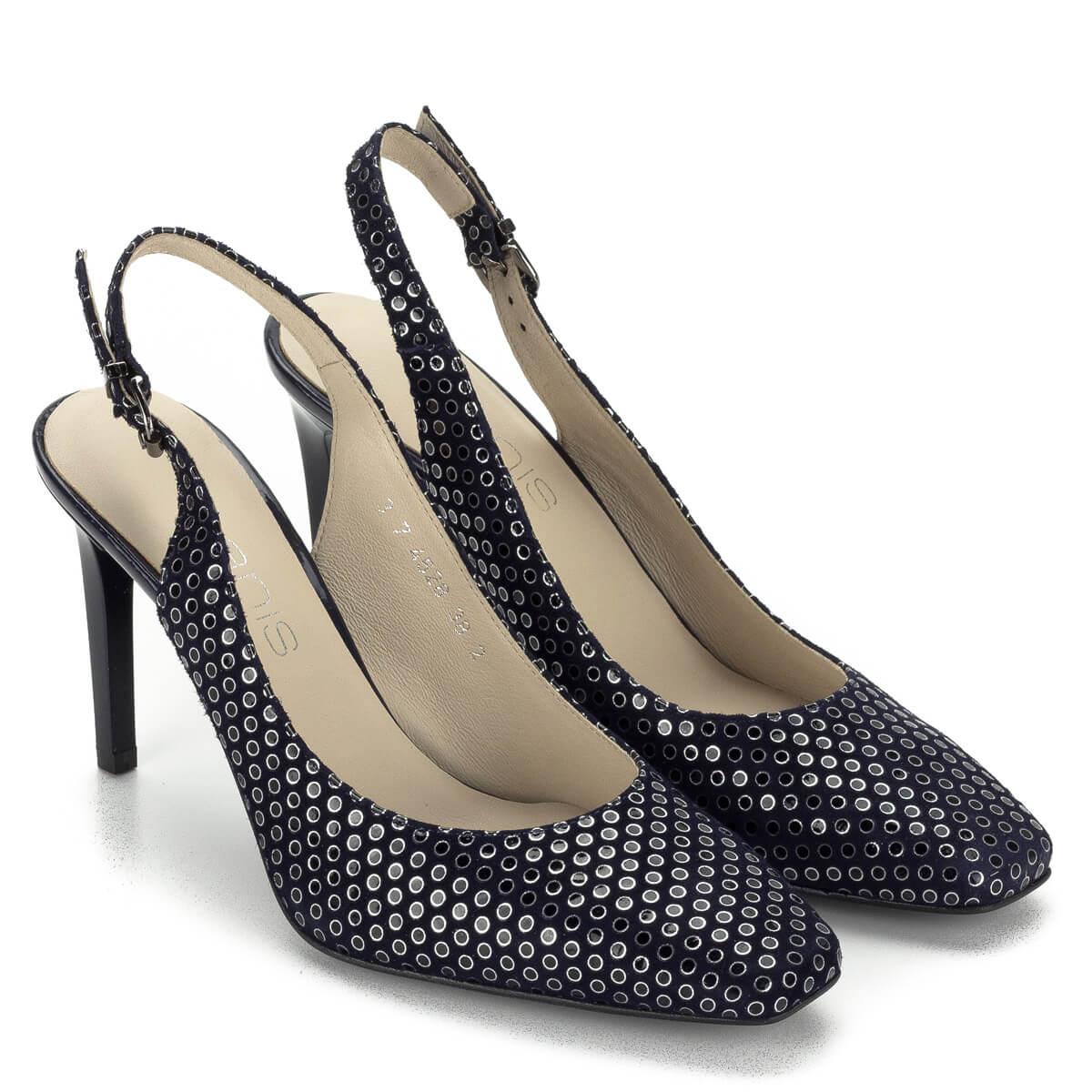 őszi cipő mentse el első ránézésre Magas sarkú Anis szandálcipő 9 cm magas sarokkal, kék színben