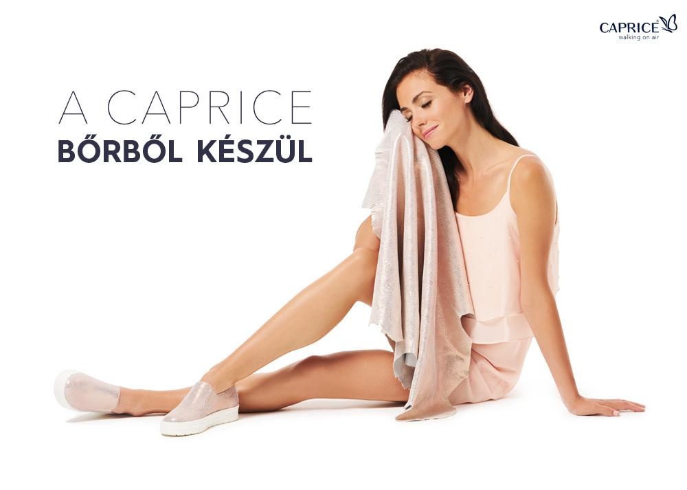 A Caprice cipők bőrből készülnek