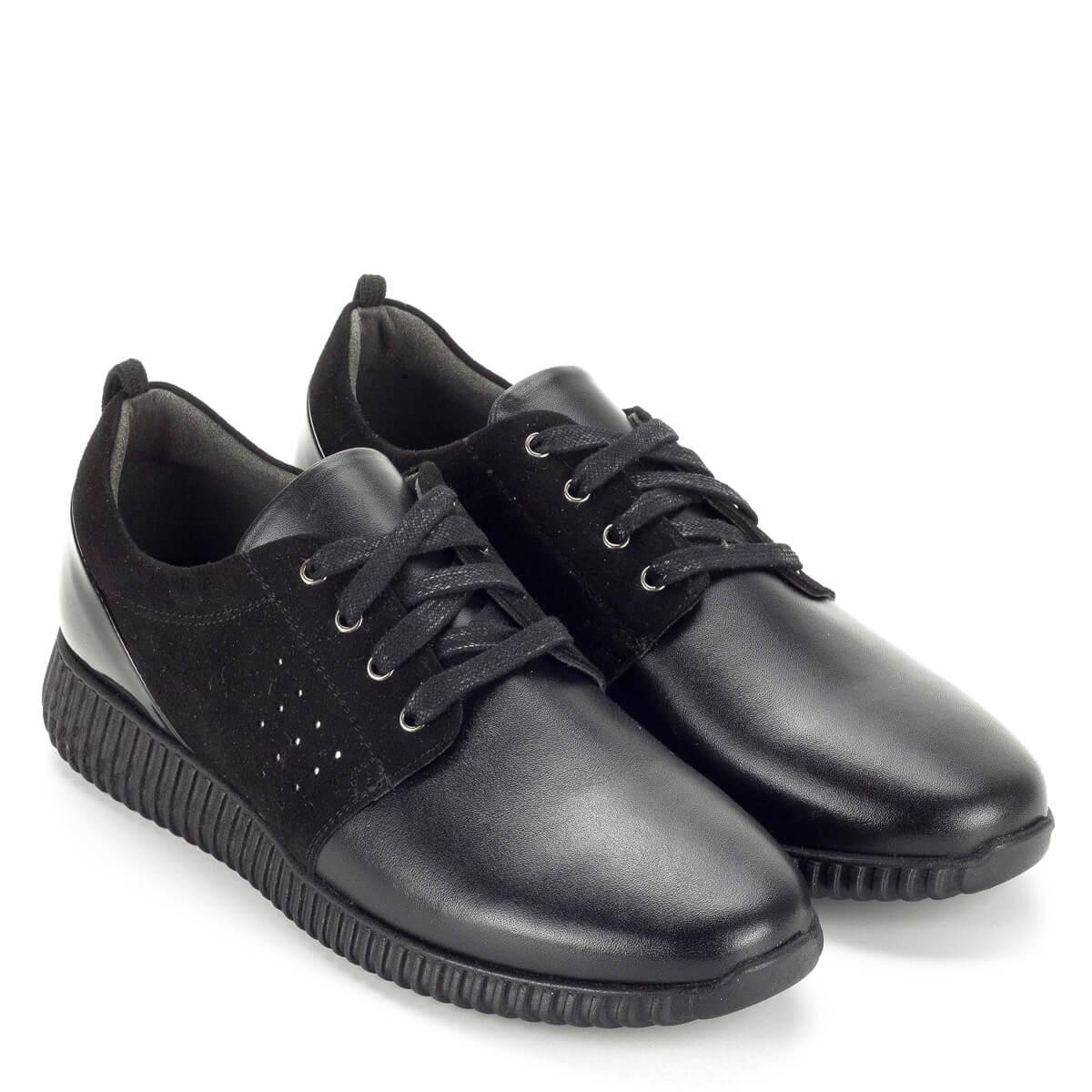 Baldaccini fekete fűzős női cipő bőrből 3b28c23026