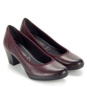 Marco Tozzi bordó női cipő platformos talppal d584b6f291