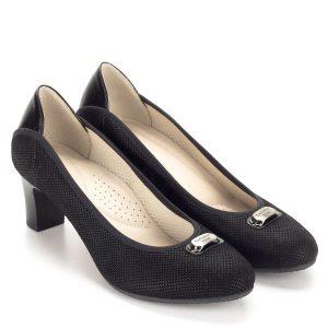 Anis fekete női bőr cipő