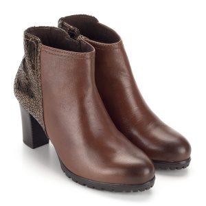 Barna Caprice magas sarkú bokacipő - Bőr bokacipő - Rövid szárú csizma
