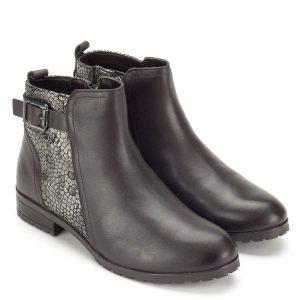 Caprice barna bőr bokacsizma - Bőr bokacsizma - Magasszárú cipő