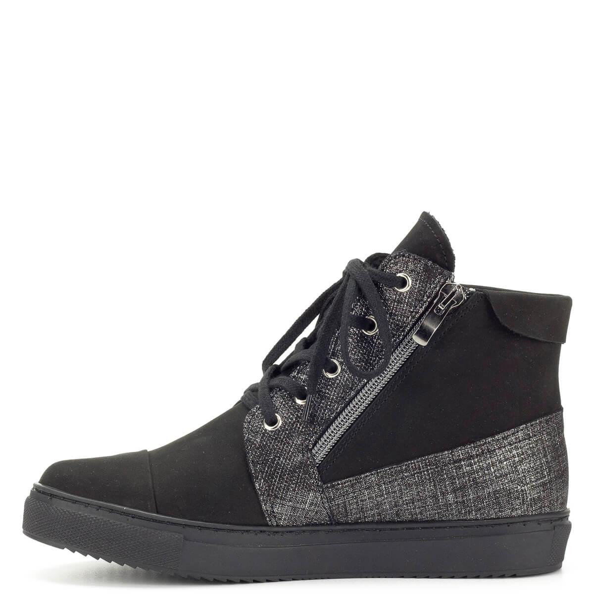 Fekete magas szárú Korda női cipő - Női Bakancs - Magas szárú cipő ddfb910c26