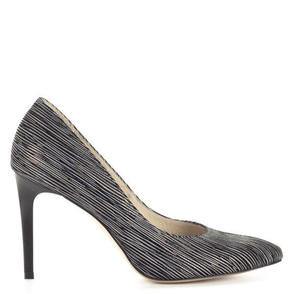 Fekete Anis mintás bőr cipő