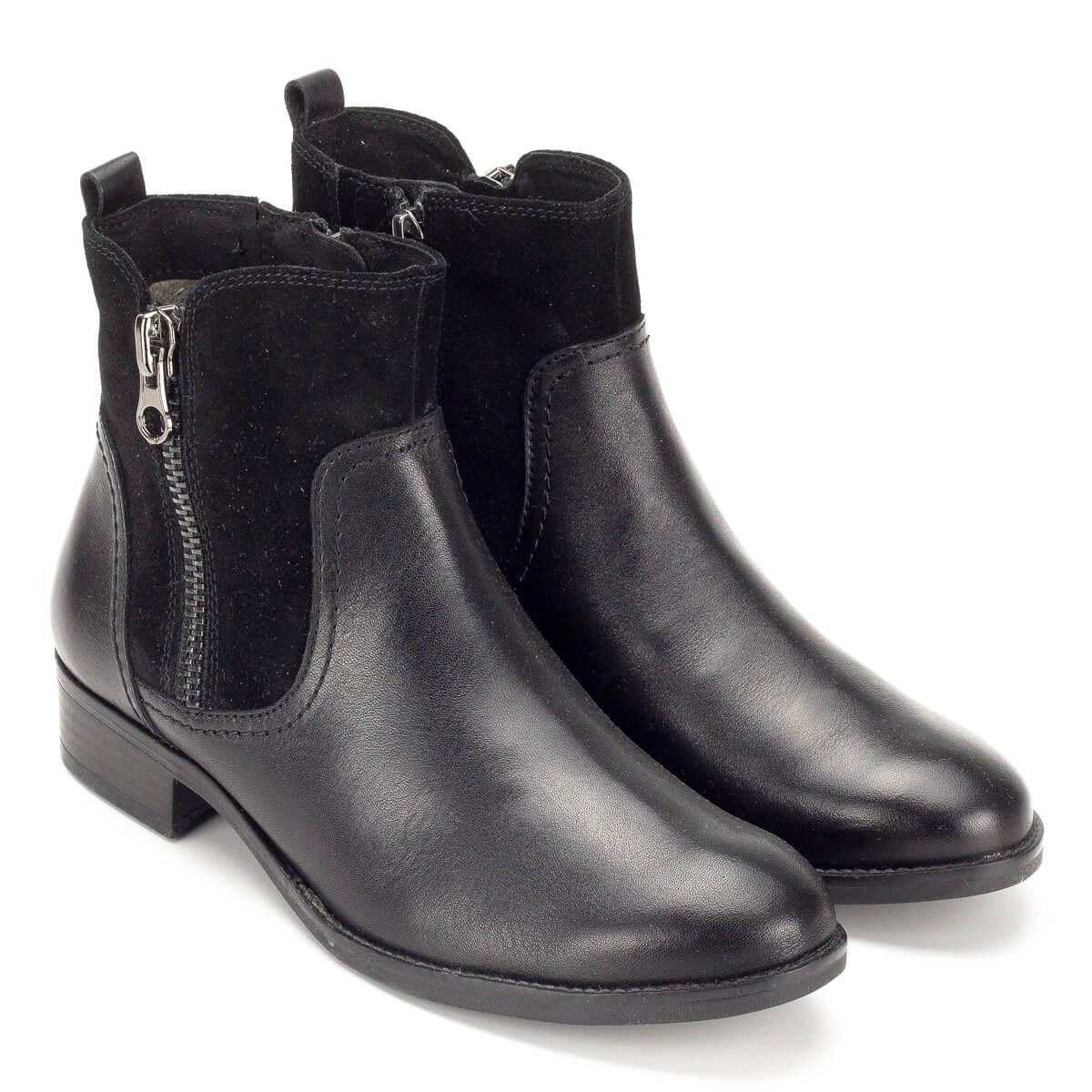 Fekete Caprice bokacsizma velúr betéttel - Rövid szárú csizma ... 7f46ca32d6