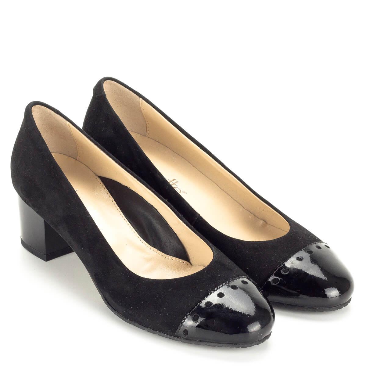 Fekete Clarette női cipő kis sarokkal 91fd544adf