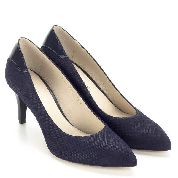 Kék Anis cipő strukturált bőrből