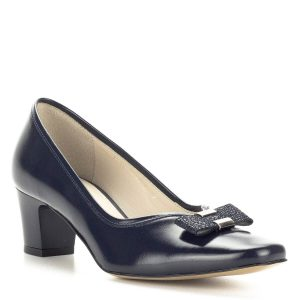 Kék Anis női cipő masni dísszel
