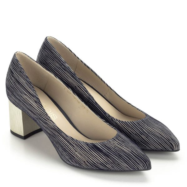 Kék-arany Anis női cipő