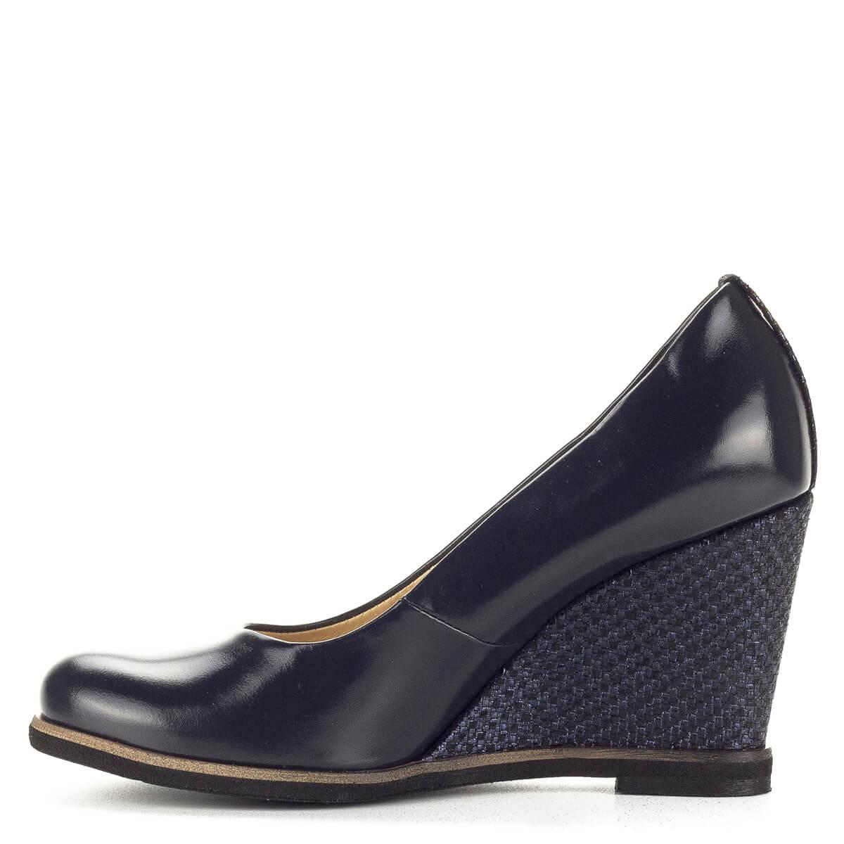 Korda kék telitalpú női cipő