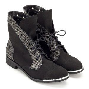 Magas szárú Korda fűzős cipő