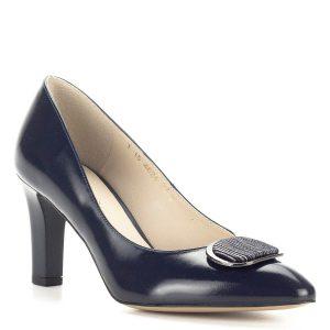 Sötétkék Anis magas sarkú cipő