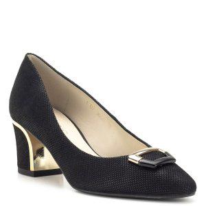 Fekete Anis alkalmi cipő fém dísszel - Alkalmi cipők - Anis cipők