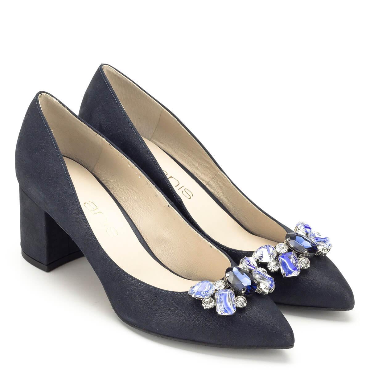 Kék Anis köves alkalmi cipő