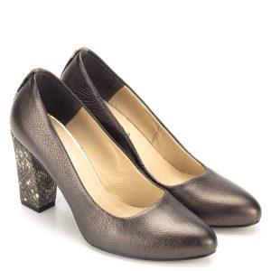 143fd09da0 Korda bőr magassarkú bronz színben - Őszi cipő - Magassarkú cipő