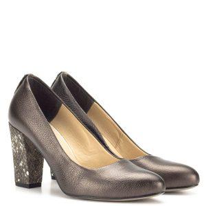 Korda bőr magassarkú bronz színben - Őszi cipő - Magassarkú cipő