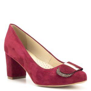 Luca Cavialli bordó bőr magassarkú cipő - Női alkalmi cipők