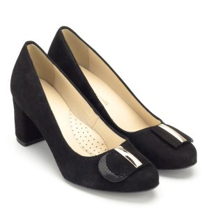 Luca Cavialli fekete bőr magassarkú cipő - Női alkalmi cipők 78c8edb361